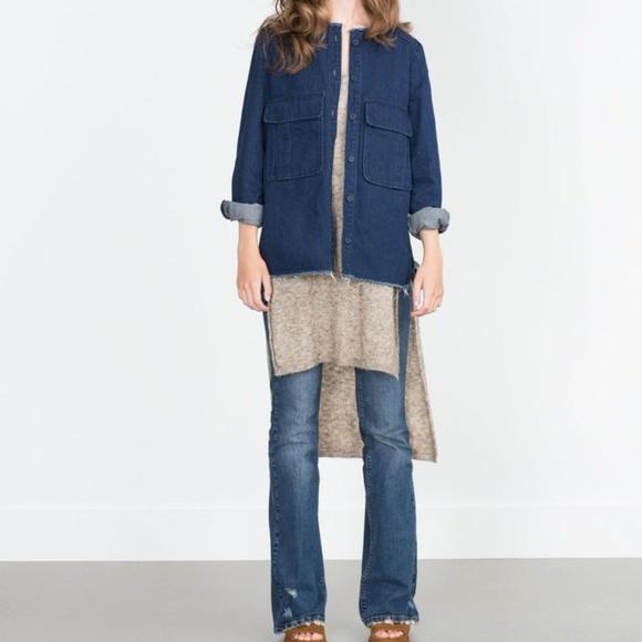 2c70e15266b Zara Denim Overshirt Jacket. M 5a7a20e32ae12fb881f6e02c